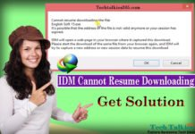 IDM Cannot Resume Downloading The File (Get Solution)