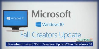 Download Latest Fall Creators Update For Windows 10 [Microsoft]