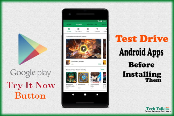 Google Play Try It Now Test Drive Android Apps Before Install 2017