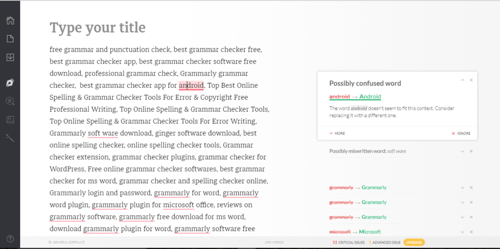Grammerly-Review Online grammar checker