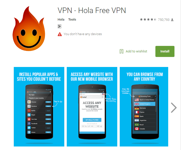 Hola VPN Best Free Unlimited VPN Apps for Android 2017 to Stay Private and Secure