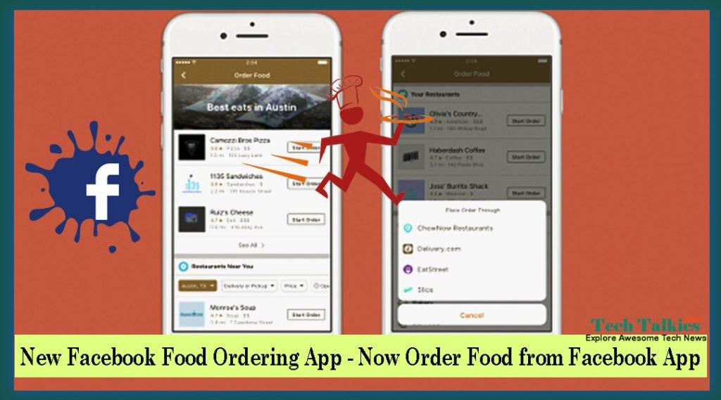 New Facebook Food Ordering App - Now Order Food from Facebook App