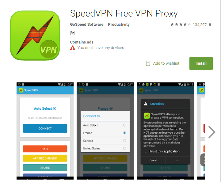 Speed VPN Best Free Unlimited VPN Apps for Android 2017 to Stay Private and Secure