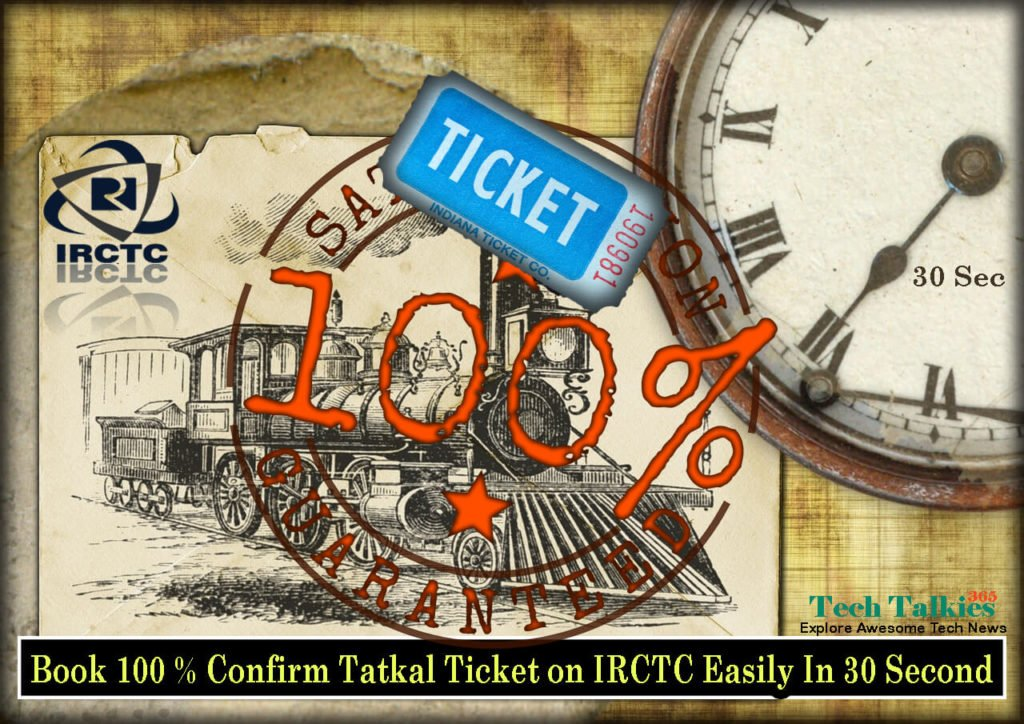 Book IRCTC Tatkal Ticket