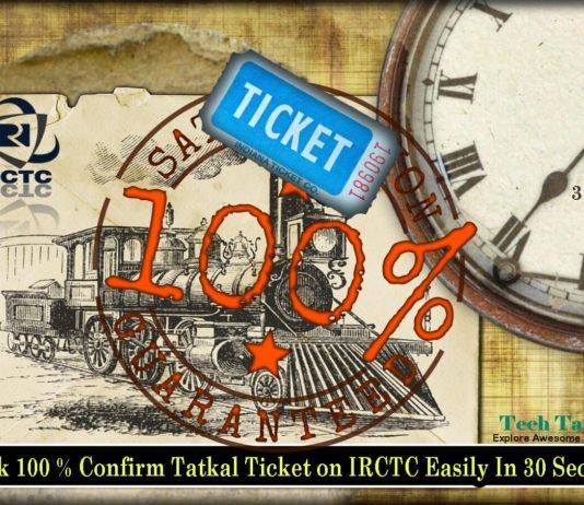 Book IRCTC Confirm Tatkal Ticket