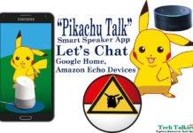 Chat with Free Pikachu Talk Smart Speaker App via Google Home, Amazon Echo