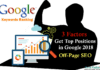 Keyword Ranking Google How To Get Top Positions in Google 2018