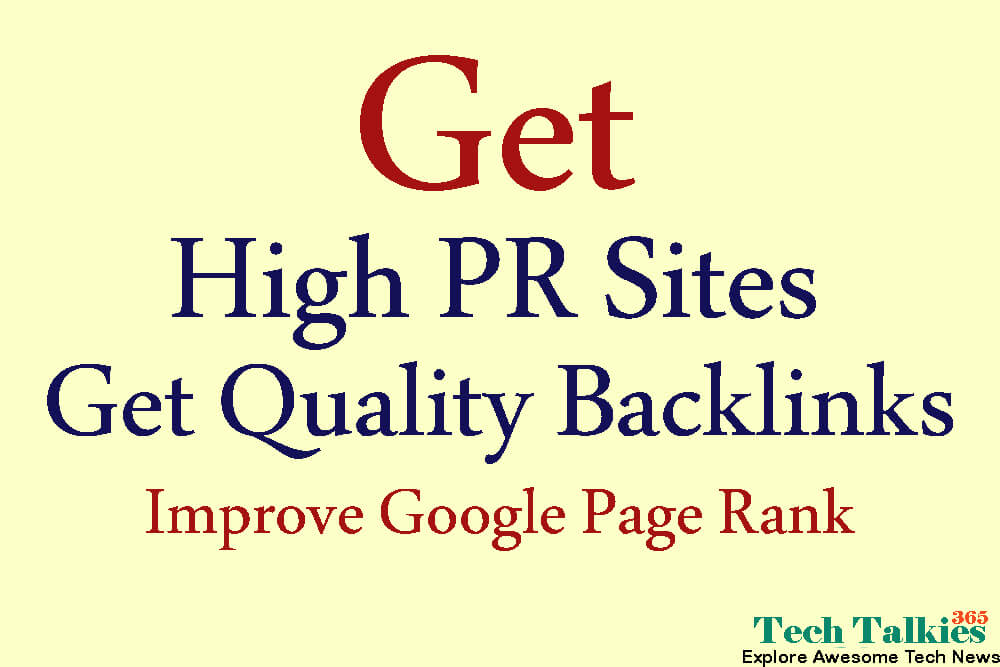 Get High Quality Backlinks