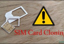 Alert from SIM Card Cloning Security