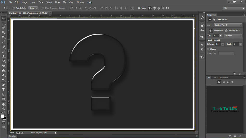 How to add 3D option in Adobe Photoshop CS6