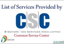 Services Provided by Common Service Centers (CSC)