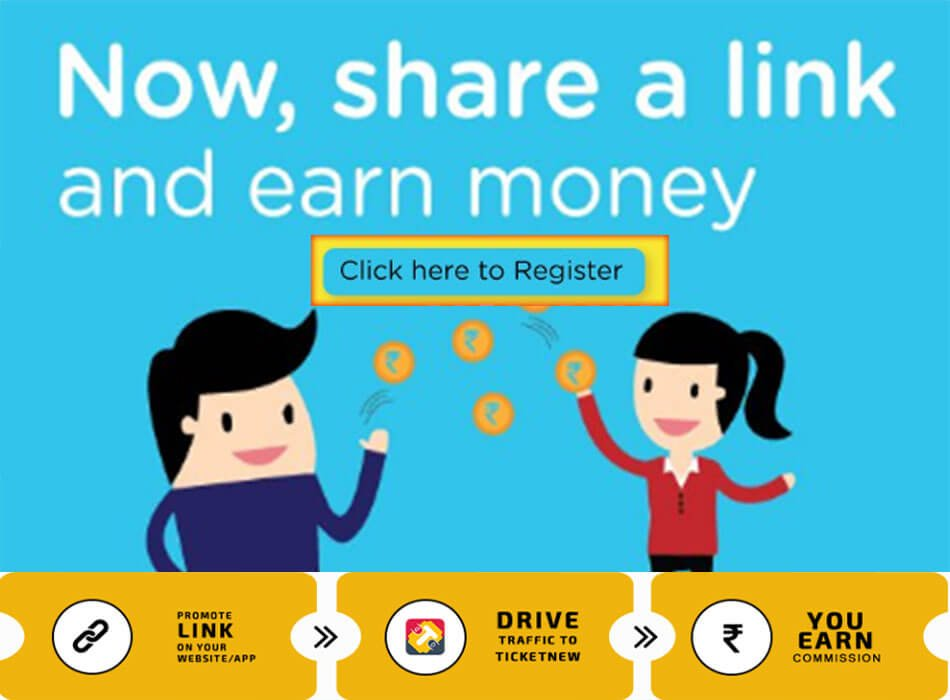 Share Referral Link and Earn in Lakhs [Drive traffic to TicketNew]