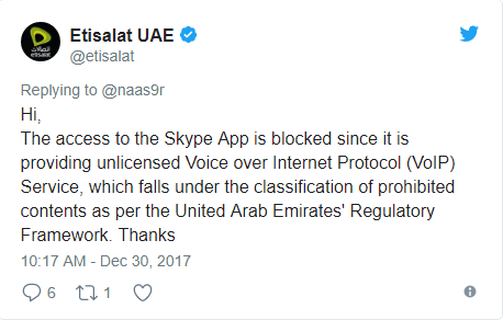 Skype blocked in UAE Skype Alternatives in Dubai