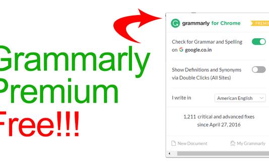 Get GrammarlyPremium AccountSubscription Free 2018