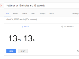 Set timer for 13 minutes and 13 seconds