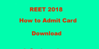 Hello everyone, Today in this post we are going to share with How to Download REET 2018 Admit Card,REET 2018 Latest News, Exam Centre, Results of Exam 2018 REET.