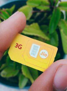 Jio 3G Sim, Jio 3G Sim card, Jio 3G Sim for 3G Smartphone