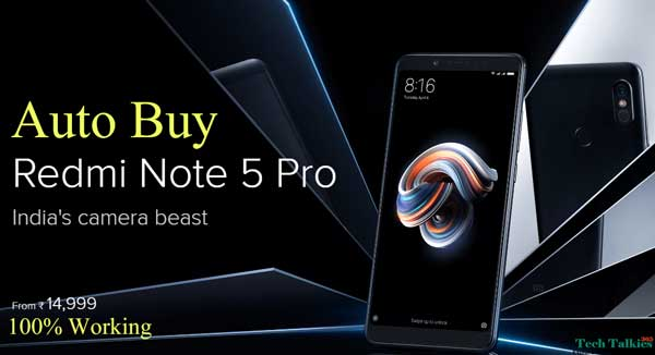 Trick to Autobuy Redmi Note 5 Pro Script Flipkart Flash Sale