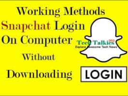 Login Snapchat On PC without downloading