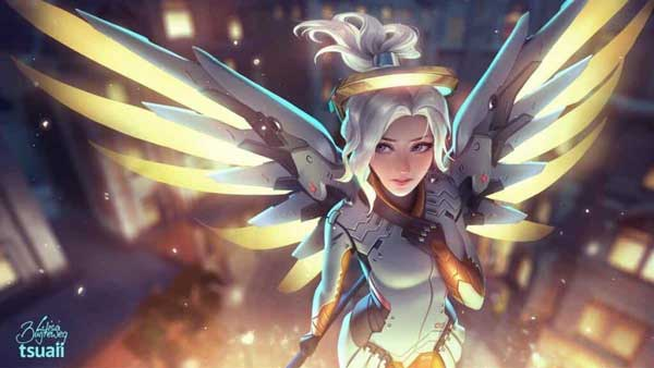 Beautiful Mercy Overwatch Wallpaper