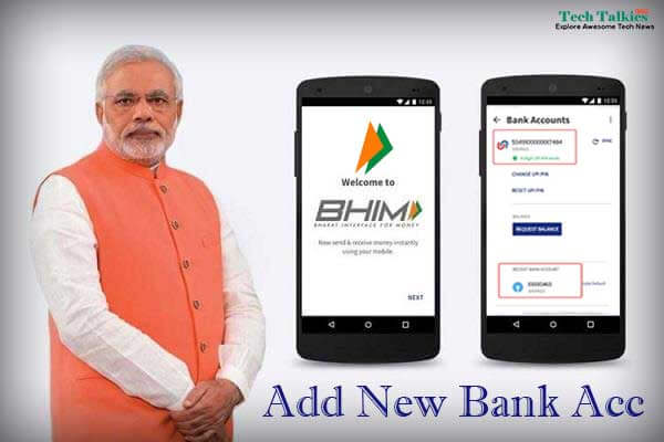 Add New Bank Account in BHIM App Use Multiple Bank Accounts