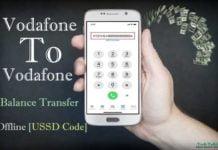 Offline Vodafone to Vodafone Balance Transfer Trick