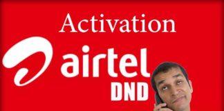 DND Activation Airtel Do Not Disturb Airtel Service