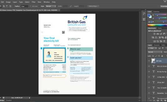 Get UK Driver License PSD Template Free Download