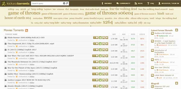 Kickass Torrents Unblocked Proxies Alternatives 2019