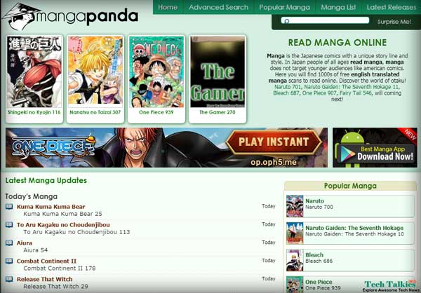 Online Manga Comics Reader Free at Mangapanda in English