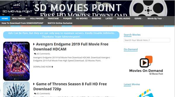 Free Download Bollywood Movies From SDMoviesPoint