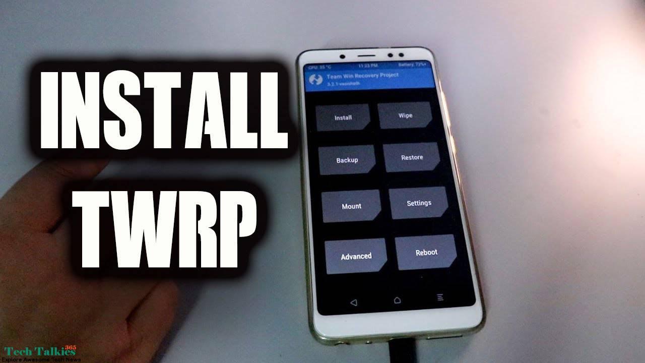 Install Universal TWRP 3 2 1 Custom Recovery IMG ZIP