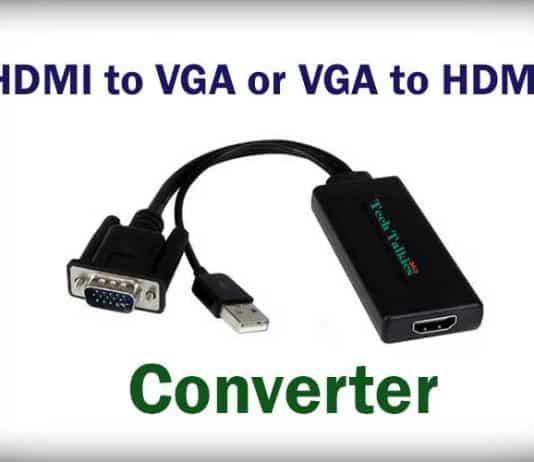 Convert HDMI to VGA or VGA to HDMI