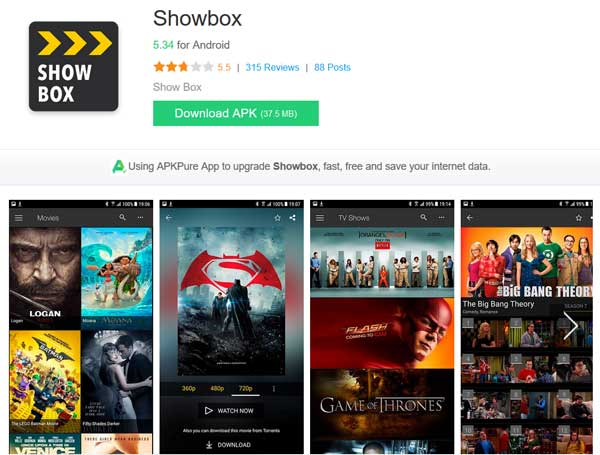 Movietube Alternative of Showbox