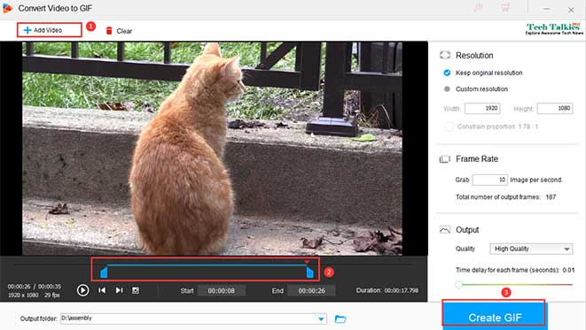 How to Convert a Video to GIF?