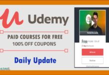 Udemy Daily Coupons Paid Courses For Free List