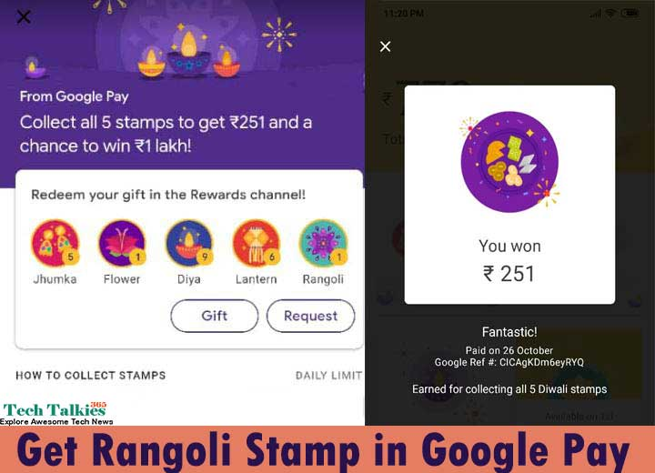Get Rangoli Stamp Google Pay