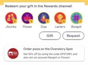 Get Google Pay Rangoli Stamp Diwali Scan