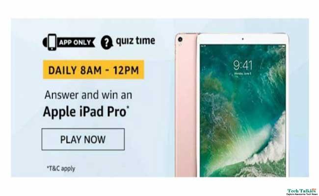Amazon Apple iPad Pro Quiz – Answer and Win Apple iPad Pro